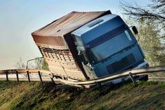 Acidente do caminhão Fotos de Stock Royalty Free