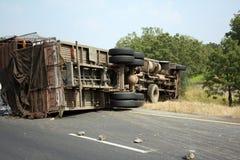Acidente do caminhão fotografia de stock royalty free
