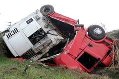 Acidente do Camion foto de stock royalty free