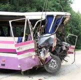 Acidente do ônibus Imagem de Stock Royalty Free