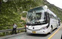 Acidente do ônibus Foto de Stock