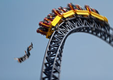 Acidente do roller coaster Fotografia de Stock Royalty Free