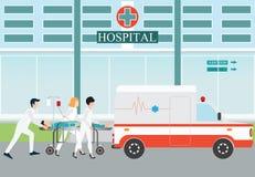 Acidente médico da evacuação da emergência da ambulância ilustração stock