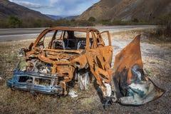 Acidente na estrada Foto de Stock