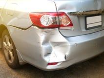 Acidente na estrada, acidente de trânsito do acidente de viação para o seguro Imagem de Stock