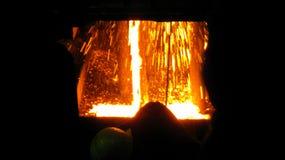 Acidente na produção metalúrgica Fotografia de Stock