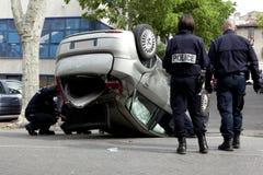 Acidente na rua Fotos de Stock Royalty Free