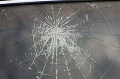 Acidente, o vidro quebrado do carro Foto de Stock Royalty Free
