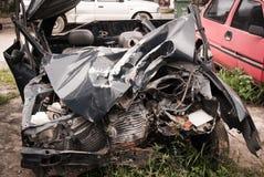 Acidente total da quebra do acidente de viação Foto de Stock