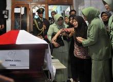 Acidentes de aviação militares em Indonésia que mata 135 Fotografia de Stock Royalty Free