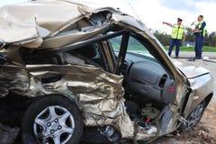 Acidentes de trânsito em Israel Fotografia de Stock Royalty Free