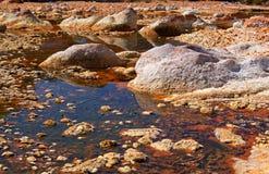 Acidic rio Tinto Arkivfoto