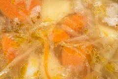 Acidifiez le potage Fond aigre de soupe images libres de droits