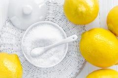 Acido citrico fotografie stock