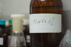 Acido nitrico Fotografie Stock