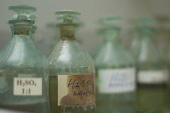 acido solforico Immagini Stock