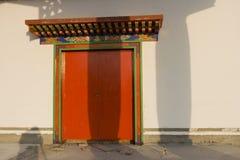 acient κινεζική πόρτα κτηρίου Στοκ Εικόνα