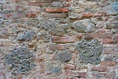 Acient-Backsteinmauerbeschaffenheit in Siena Lizenzfreies Stockbild