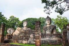 Acient buddha statue in Kamphaeng Phet Historical Park. A part of the UNESCO World Heritage Site Historic Town of Sukhothai and Associated Historic Towns Royalty Free Stock Photos