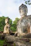 Acient buddha statue in Kamphaeng Phet Historical Park Royalty Free Stock Image