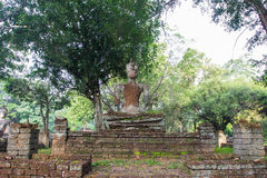 Acient buddha statue in Kamphaeng Phet Historical Park. A part of the UNESCO World Heritage Site Historic Town of Sukhothai and Associated Historic Towns Stock Images