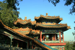 Acient Chinese Pavilion in summer palace Stock Photo