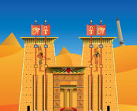 Acient egyptiertempel stock illustrationer