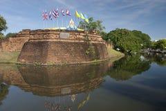 Acient Festung und Burggraben Lizenzfreies Stockfoto