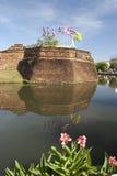 Acient Festung und Burggraben Lizenzfreie Stockfotos