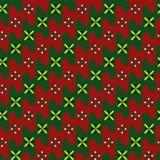 Acient-Muster Mit den gelben und grünen Blumen Stockfotografie