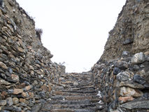 Acient rock steps for town entry Royalty Free Stock Photos