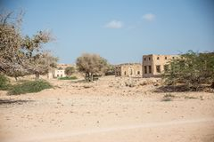 Acient-Ruinen des persischen Dorfs Stockfoto