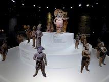 Acient Statuen der Mexiko-Mayakunst von mayian Leuten und von König Lizenzfreie Stockfotografie