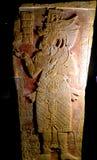 Acient Statuenstatue der Mexiko-Mayakunst Stockfotos
