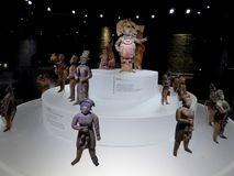 Acient statyer för Mexico Mayakonst av mayian folk och konungen royaltyfri fotografi
