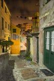 Acient Viertel von Boccadasse in Genua Stockbilder