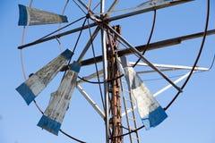 Acient-Windmühlen-Abschluss oben Stockbild