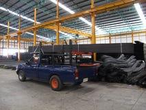 Acier de stockage et de transport Photo stock