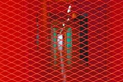 Acier discordant rouge photographie stock