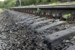 acier ferroviaire de septembre de station de train photo stock