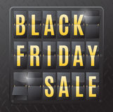 Acier Flip Calendar de vente de Black Friday Image libre de droits
