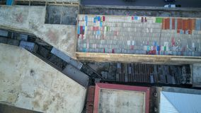 Acier galvanisé sur le toit image stock