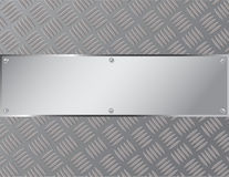Acier ou métal de tôle de fond avec un modèle de zigzag Image stock