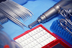 Acier. Outils. Chirurgie. Images libres de droits