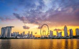 Aciers de Firey de Marina Bay Sands, Singapour Images stock
