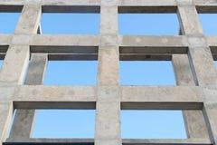 Acima da coluna da vista e da estrutura do feixe para o fundo do sumário da construção fotos de stock