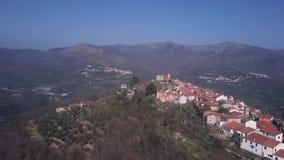 Acima da ideia da paisagem de países Ligurian filme