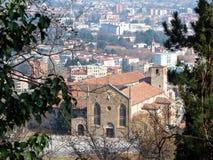 acima da opinião Sant Agostino Monastery em Bergamo imagem de stock royalty free