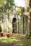 Acima da terra cripta bloqueada Imagens de Stock Royalty Free
