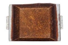 Acima da vista bandeja negligenciada de Rusty Grungy Decayed Rusted Metal Imagem de Stock